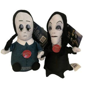 Addams Family Wednesday & Morticia Singing Plushes